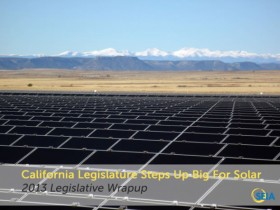 California Legislature for solar
