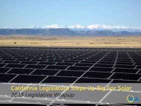 California Legislature for solar